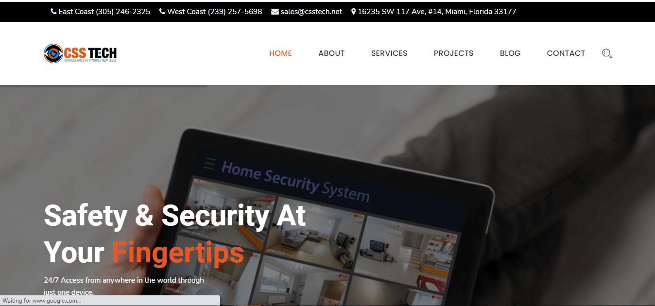 Security Services Company website development