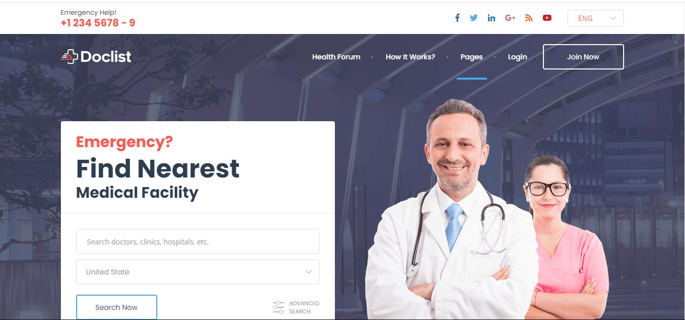 Doctor finder web application in laravel